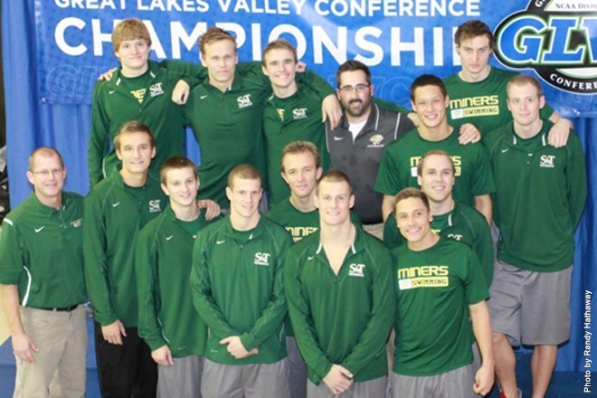 Men's Swimming at GLVC