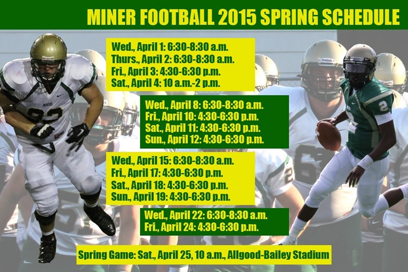 Spring Football Splash Page